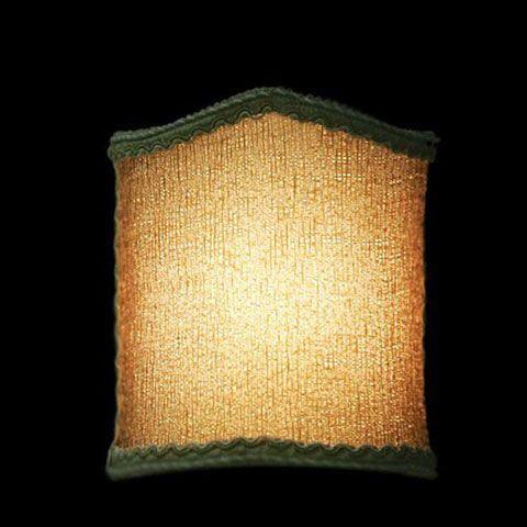 Abat-jour en perles ambrées avec une bordure verte | Applique murale | Lampe |Abat-jour Illimités