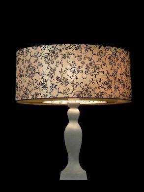 Abat-jour rond à motifs | Lampe de table | Lampe torchère | Abat-jour Illimités | Montréal