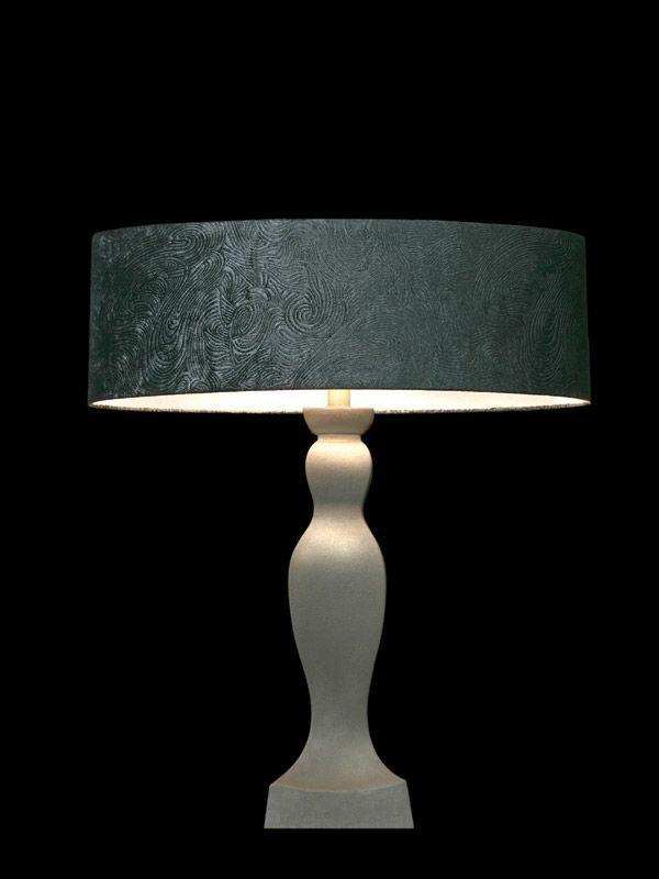 Abat-jour rond | Gris bleu | Lampe | Abat-jour illimités | Montréal