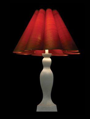 Abat-jour rétro | Rouge | Lampe | Abat-jour illimités | Montréal