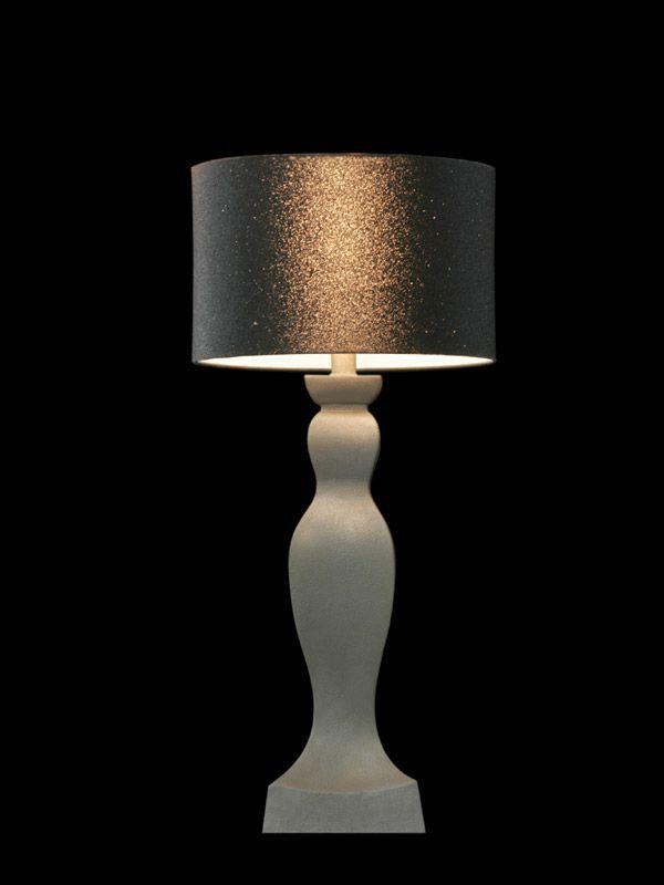 Abat-jour rond | Paillettes noires | Reflets cuivrés | Lampe | Abat-jour illimités | Montréal