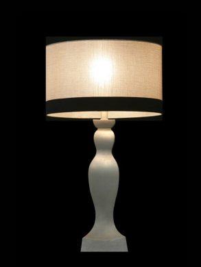 Abat-jour moderne rond | Grège avec une bande noire | Lampe | Abat-jour illimités | Montréal