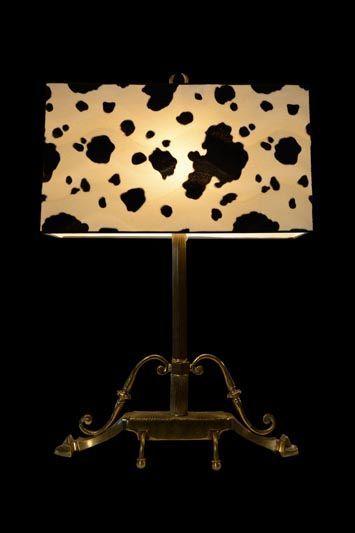 Abat-jour cubique avec un imprimé vache | Lampe | Abat-jour Illimités | Montréal