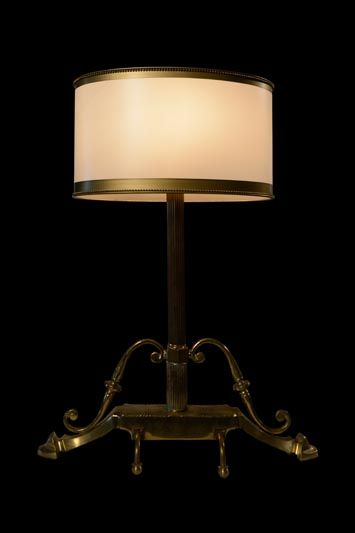 Abat-jour rond classique blanc et doré | Lampe | Abat-jour Illimités | Montréal
