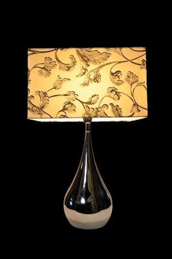 Abat-jour carré avec un imprimé baroque | Lampe | Abat-jour Illimités | Montréal