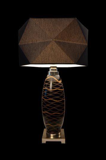 Abat-jour géométrique noir | Lampe | Abat-jour Illimités | Montréal
