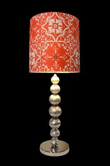Abat-jour orange | Imprimé marocain | Lampe | Abat-jour Illimités | Montréal