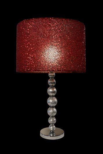 Abat-jour rouge foncé avec un petit motif | Lampe | Abat-jour illimités | Montréal