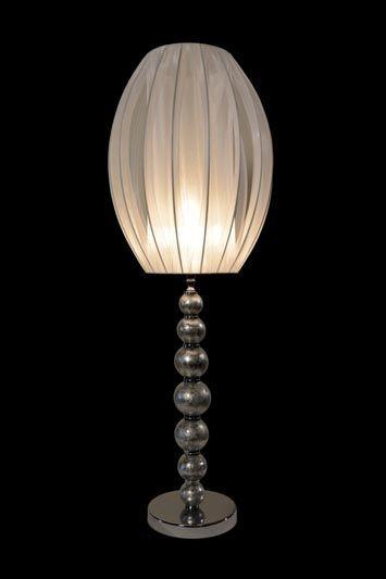 Abat-jour moderne ovale en métal et en tissu blanc | Lampe | Abat-jour illimités | Montréal