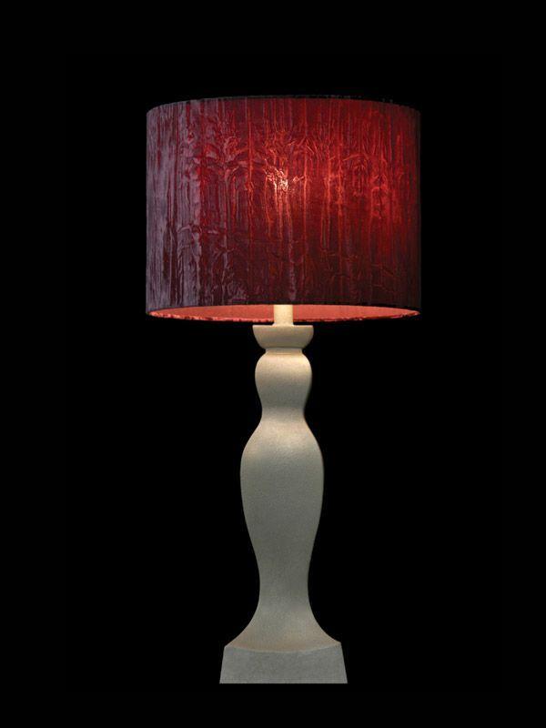Abat-jour en tissu rouge froissé | Lampe | Abat-jour Illimités | Montréal
