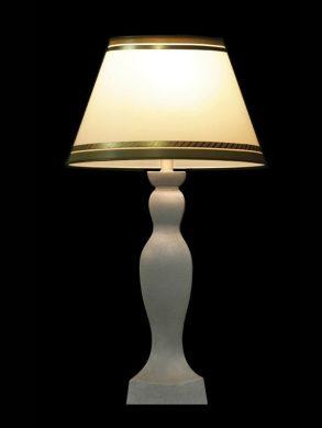 Abat-jour classique blanc avec des bordures olives | Lampe | Abat-jour illimités | Montréal