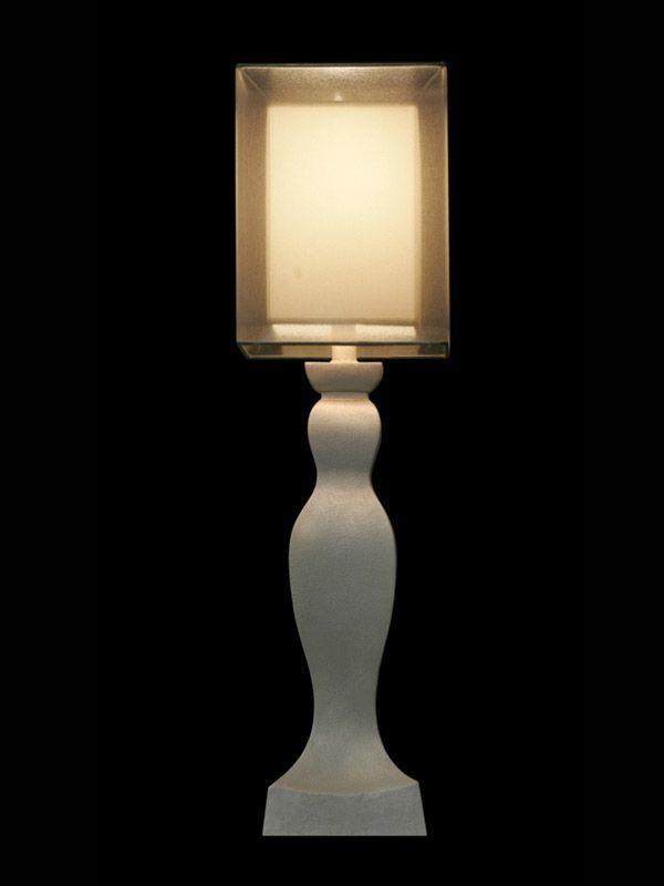 Abat-jour moderne | Cube | Gris translucide | Lampe | Abat-jour illimités | Montréal