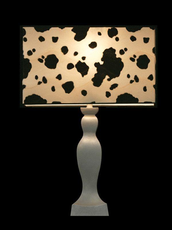 Abat-jour cubique | Imprimé vache | Lampe | Abat-jour illimités | Montréal