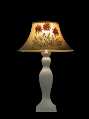 Abat-jour | Broderies | Fleurs | Lampe | Abat-jour illimités | Montréal
