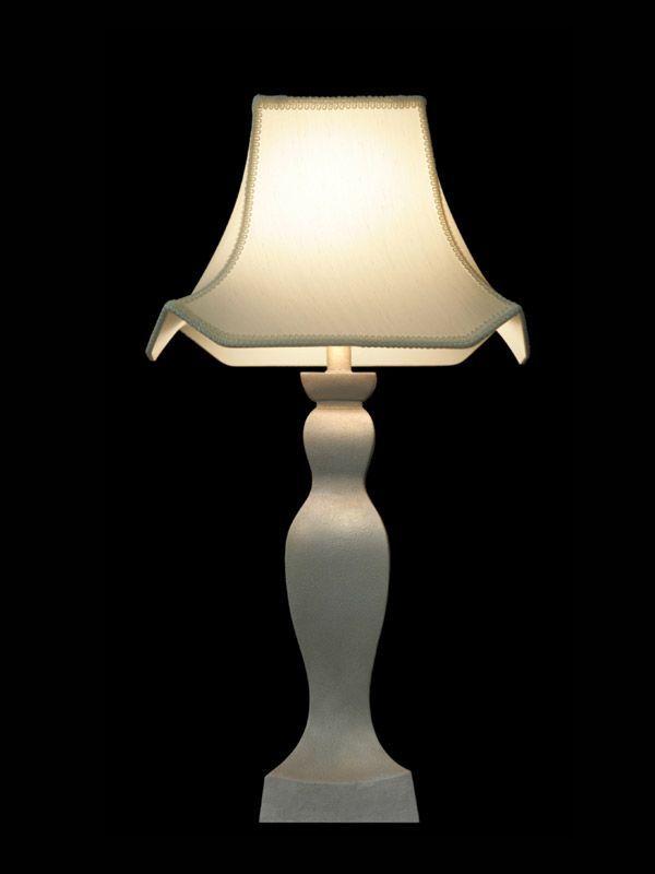 Abat-jour blanc | Coutures apparentes sur les bords | Lampe | Abat-jour illimités | Montréal