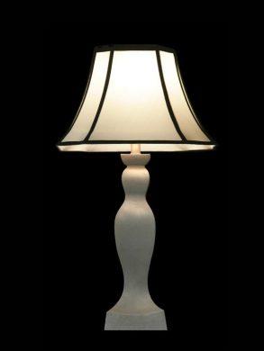 Abat-jour blanc | Bordures noires | Lampe | Abat-jour illimités | Montréal