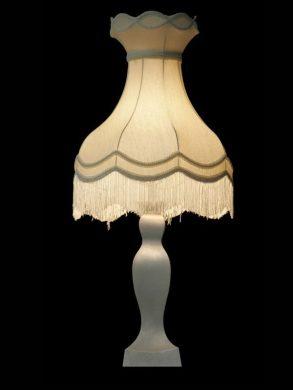 Abat-jour crème | Style victorien | Franges | Lampe | Abat-jour illimités | Montréal