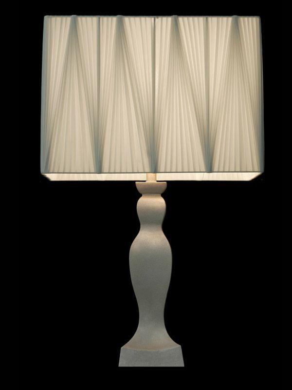 Abat-jour blanc en tissu plissé | Cube | Lampe | Abat-jour illimités | Montréal