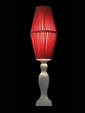 Abat-jour cylindrique | Tissu rouge | Lampe | Abat-jour illimités | Montréal