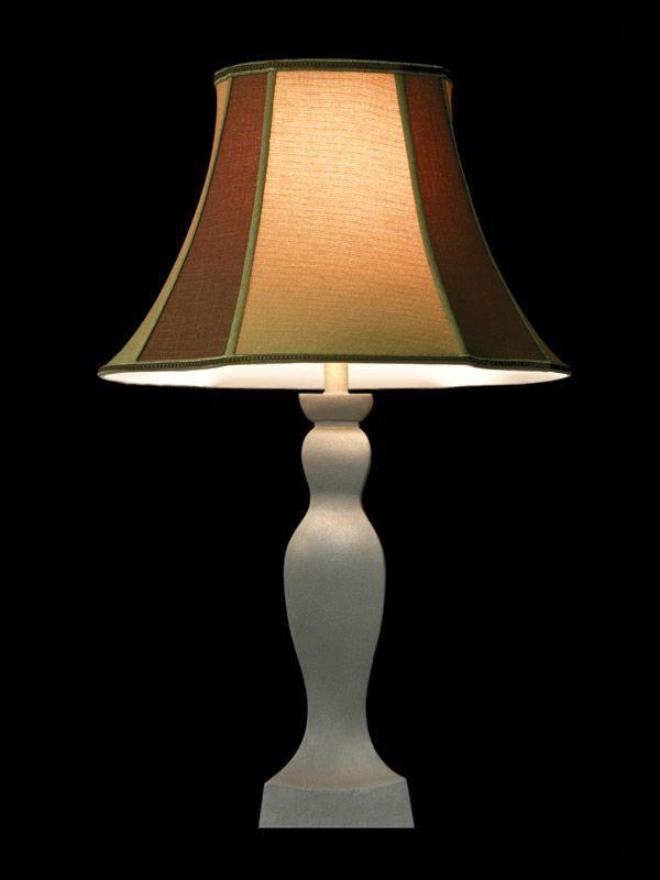 Abat-jour beige et brun | Bordures vertes | Lampe | Abat-jour illimités | Montréal