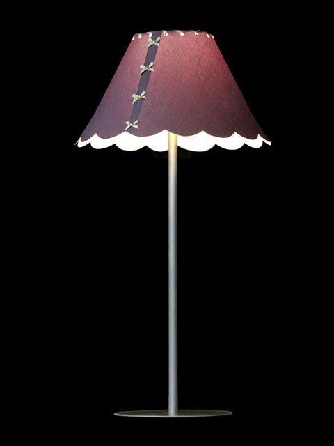 Abat-jour mini-clip mauve avec de petites boucles en rangée | Lampe | Abat-jour Illimités | Montréal