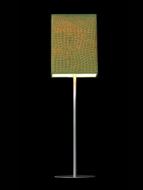 Abat-jour mini-clip cubique vert avec un effet crocodile | Lampe | Abat-jour Illimités | Montréal