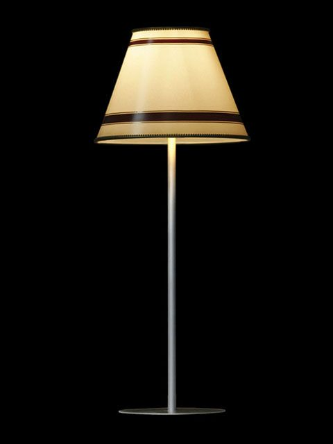 Abat-jour mini-clip beige avec deux bandes noires | Lampe | Abat-jour Illimités | Montréal