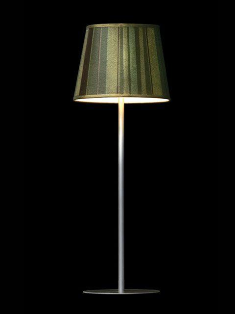 Abat-jour mini-clip composé de bandes de différentes teintes de vert | Lampe | Abat-jour Illimités