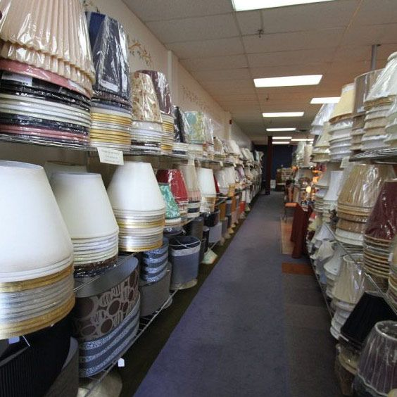 Rangée pleine d'abat-jours | Lampe | Abat-jour Illimités | Montréal