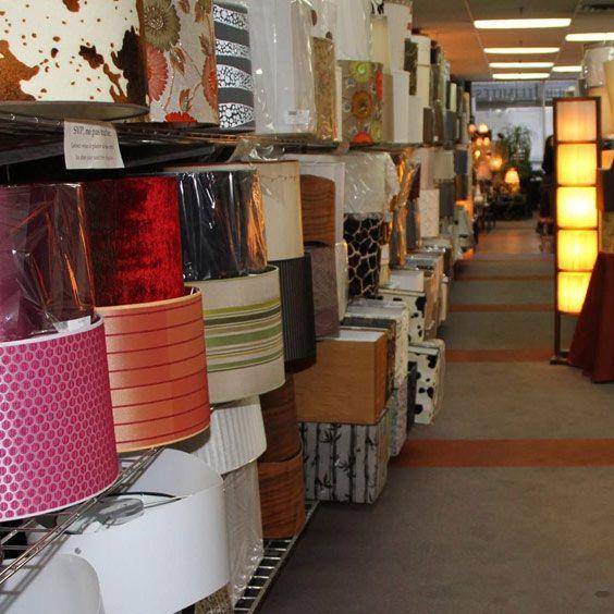 Un mur complet d'abat-jours | Lampe | Abat-jour Illimités | Montréal