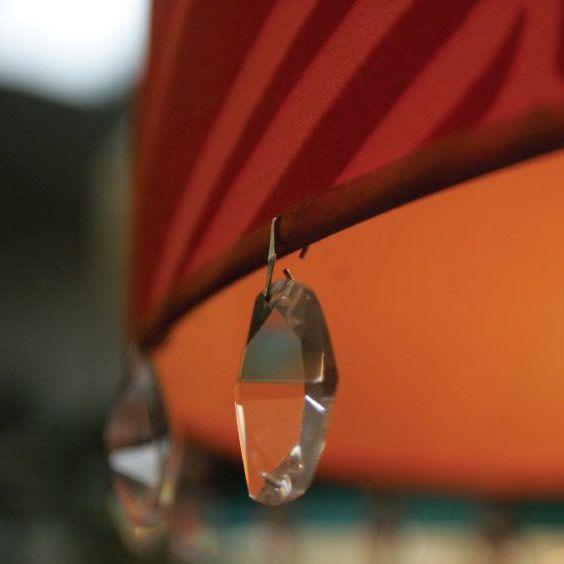 Rebord d'abat-jour avec des cristaux | Lampe | Abat-jour Illimités | Montréal