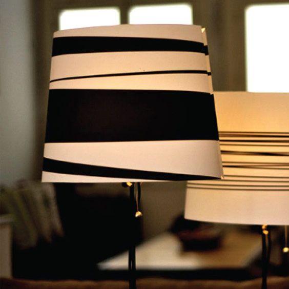 Abat-jour moderne blanc et noir | Lampe | Abat-jour Illimités | Montréal